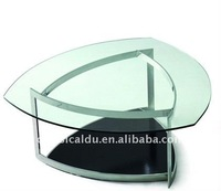 triangle shaped coffee table, triangle glass shaped tables, heart shaped table CT-66
