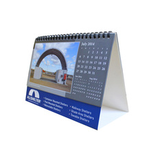 Wholesale 4 color printed wiro-o binding desktop calendar