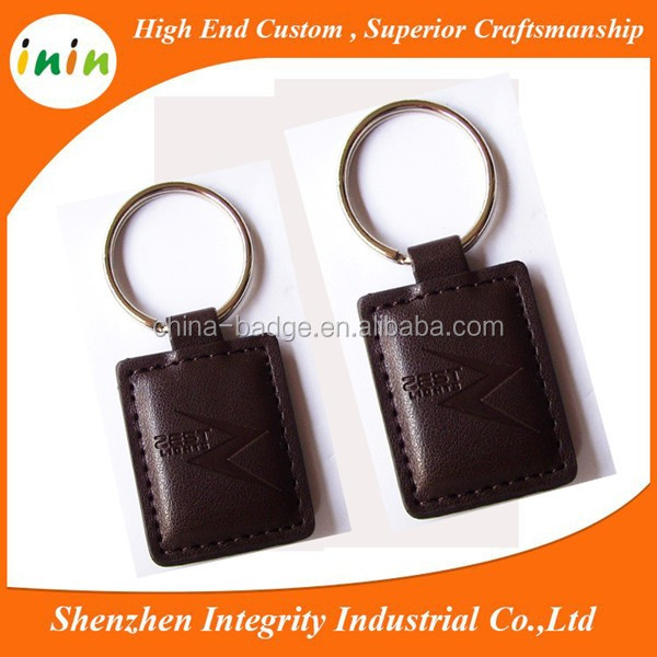 custom logo leather keychain with gps tracker