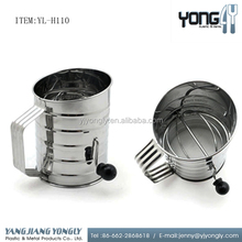 Stainless Steel flour sifter loose powder jar with sifter