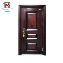 Luxury main design mother and son door entry steel door with sound insulation from china