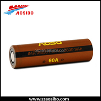 Aosibo 18650 high power cell 18650 60A High drain 2600 18650 batteries for electric bikes