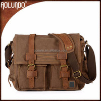 Shoulder School Leather Men Menssenger Bags