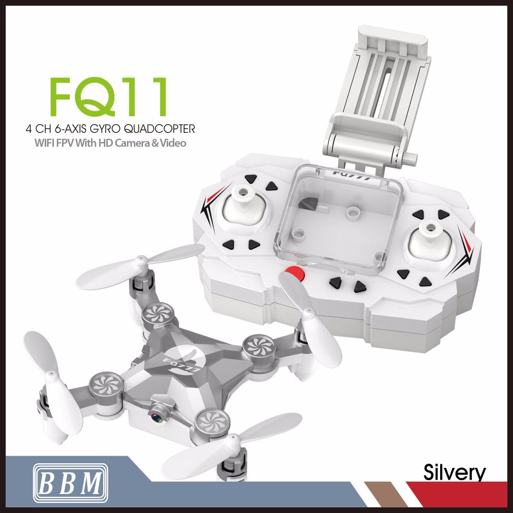 FQ11W Rc 4CH drone quadcopter wifi Fpv ready to fly drone with HD camera