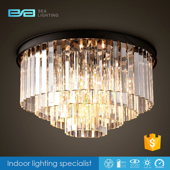 hotel ceiling light brush painting hanging crystal lamp 1106434