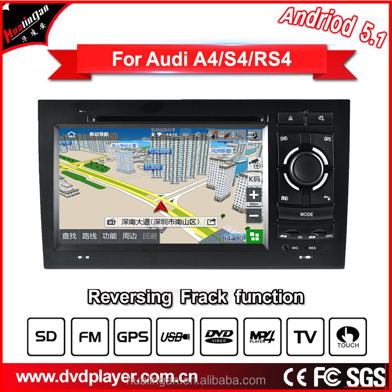 hla 8745 car dvd high-speed CPU Android 5.1 operating system car audio multimedia and communicate navigation for audi a4/s4/rs4