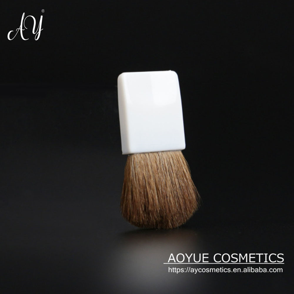 Aoyue Facial Small Flat Brush Lady Blush Brush mini makeup brush with goat hair