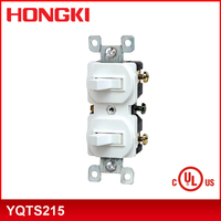 China supplier 15A 120V Double Rocker Toggle Switch YQTS215
