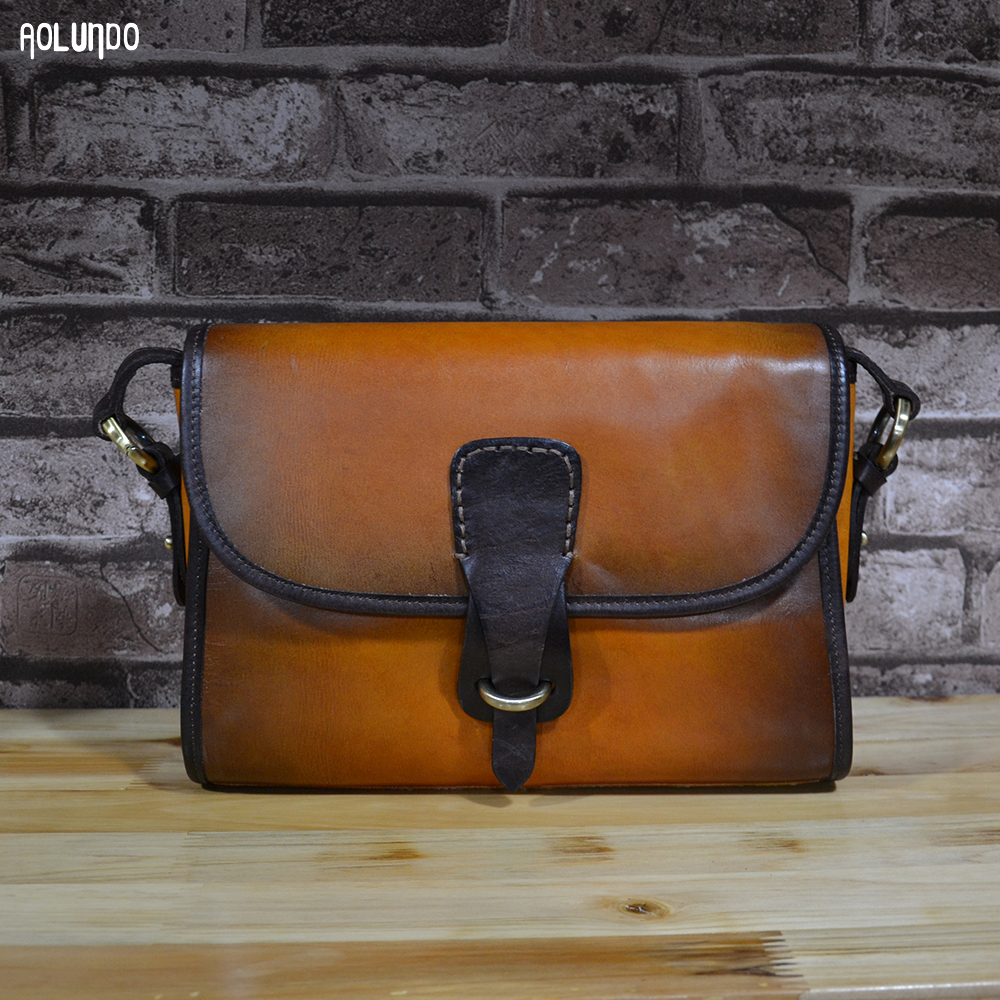 Vegetable tanned leather womens handbags leather fashion genuine leather handbags