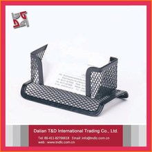 China Local Factory Best Quality Table Office Accessories Metal Promotional Business Card Holder