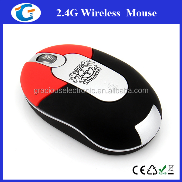 2.4Ghz wireless mini optical mouse for both hands