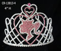 Rhinestone pink barbie girl pageant crown for sale