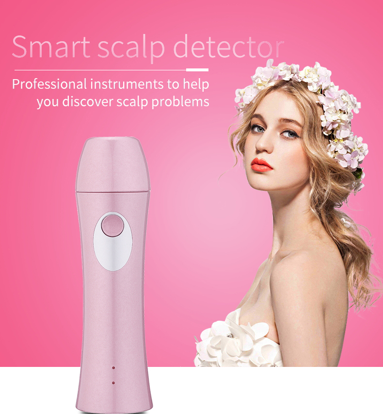 Handheld wireless WIFI skin IOS, Android, Windows professional scalp detector