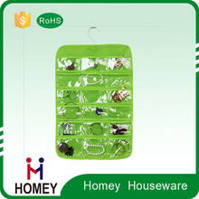 Plastic wall storage pocket hanging organizer