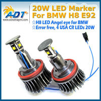 Large Lighting Angle High Power 20W H8 LED Angel Eyes Ring Marker Bulbs for BMW 1 3 5 Series Z4 X5