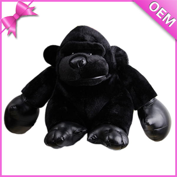 Plush Strong Chimpanzee Plush Black Chimpanzee with Leather Hands and Legs