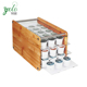 Organizer Storage Box Stand Bamboo 48 K-Cup Holder with Clear Glass Acrylic Drawer
