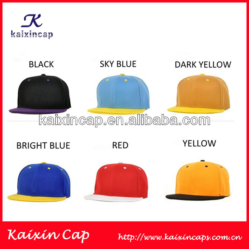 Two Tone Blank Snapback Hat Mix Color Caps Customized Logo With Your Design