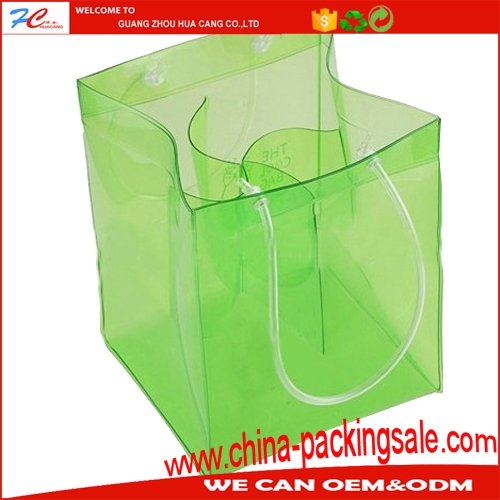 2017 new hot sale factory made pvc transparent large shopping bag
