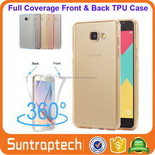 Front & Back Full Body Slim Fit 360 Degree Crystal Clear TPU Gel Cover Phone Case for Samsung Galaxy A3 A5 A7 A8 A9 2017 A517C01