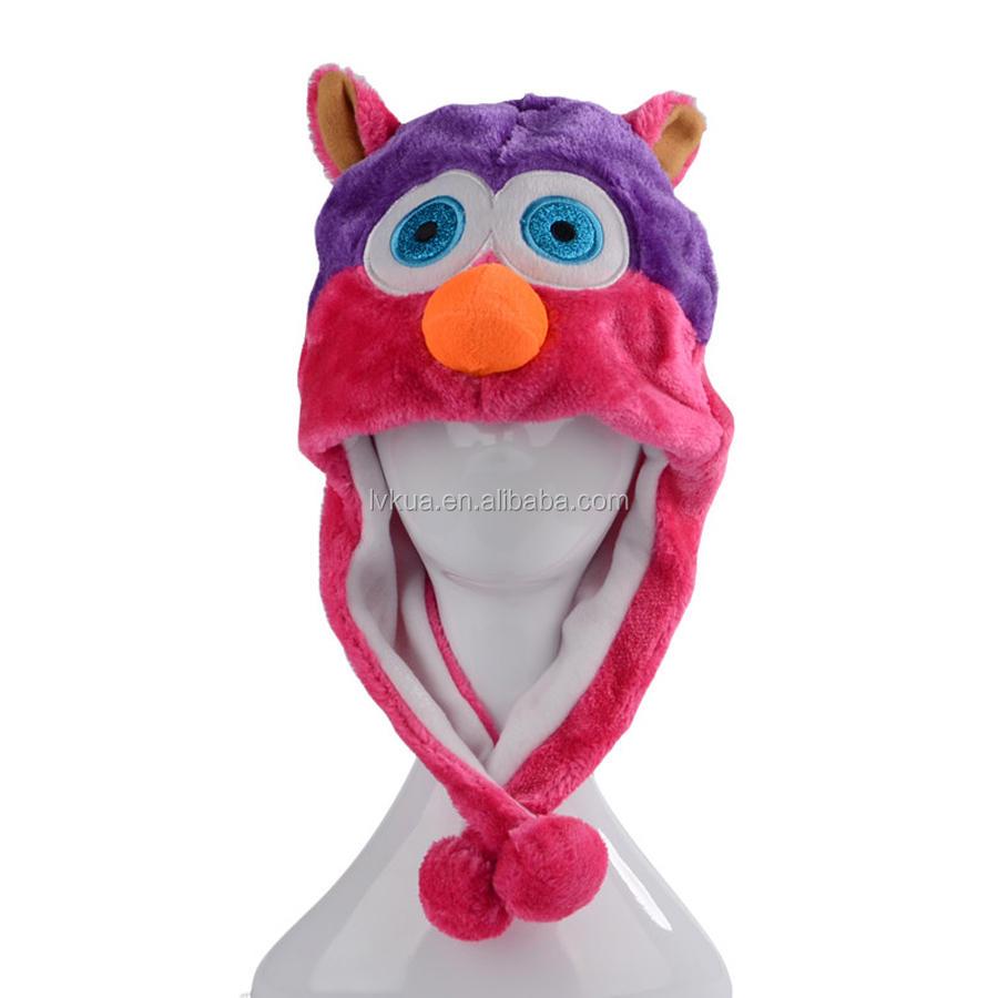 Winter Cosplay Popular Soft Cute Owl Animal Hats for Christmas Halloween Party