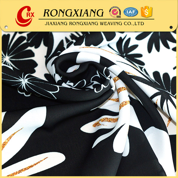 Cheap polyester chiffon printed floral 100% silk dress fabric