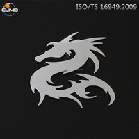 Cheap but high quality animal 3D led custom car emblem ABS 3d chrome letters numbers