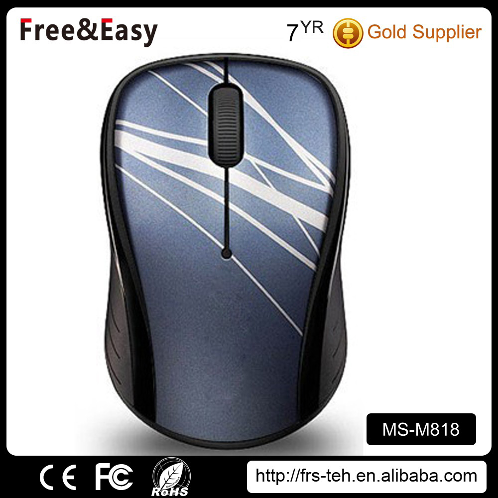 Excellent quality 3D wired gold computer mouse