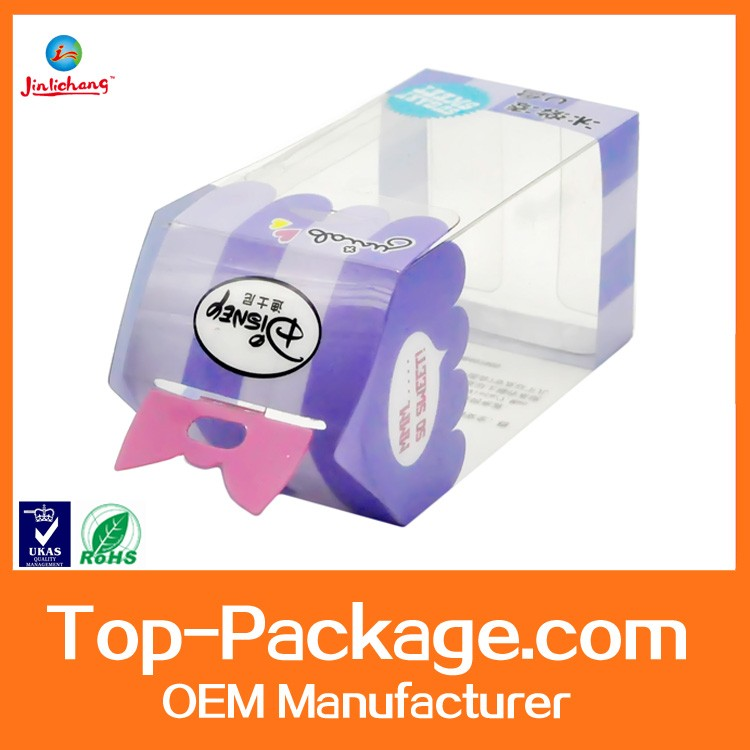Fancy Folding Packaging Small Clear Hard Plastic Box with Lock
