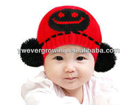 winter wool Cheap knitted baby hat wholesale kids funny hats