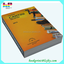 cheap bulk color book printing price list catalogue printing