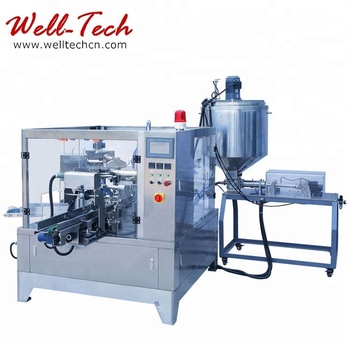 Automatic Olive Salty Water Liquid food rotary weighing and Packing Machine