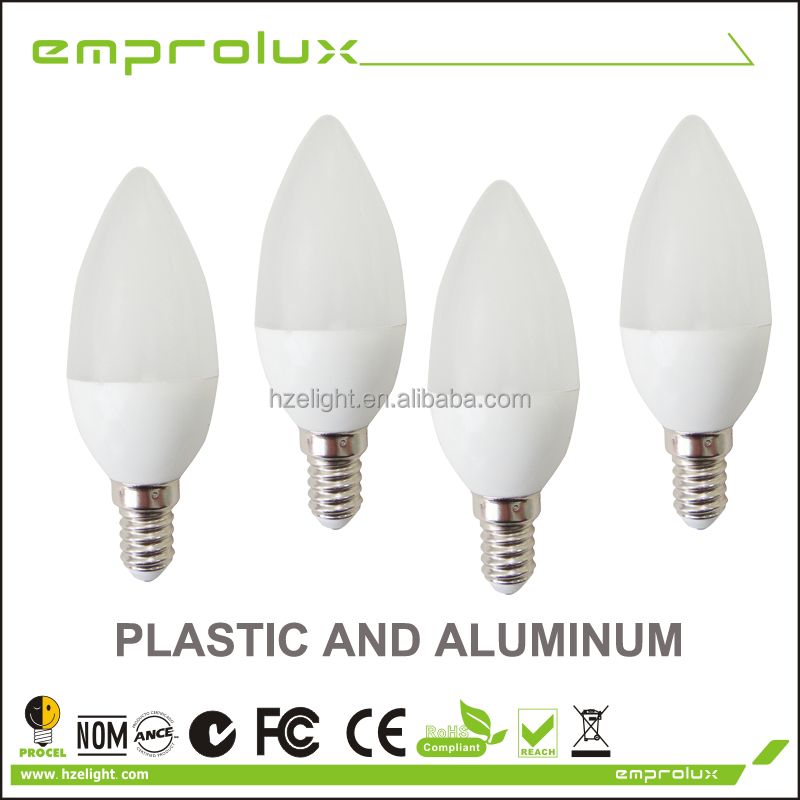 2014 modern led light IC driver led candle lamp e14 dimmable