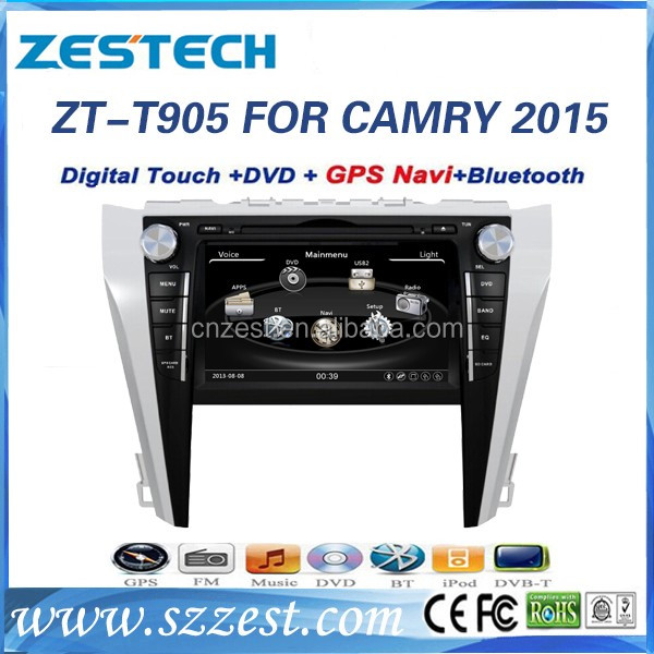 Good price 2 din car stereo for Toyota Camry 2015 Car STEREO/CD/DVD/GPS Navigation+Radio+BT+Visual 10 discs/USB Charger