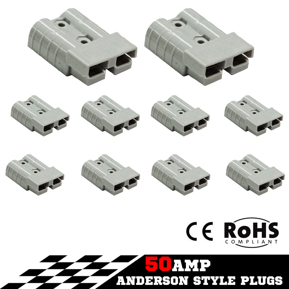New 50AMP Exterior Connector Anderson Plug For Solar Panel Caravan