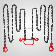 "CHAIN SLING GR80 2 LEG 3/8"" X 10FT W.L.L 7700LBS Hang Plastic <strong>Hook</strong>"