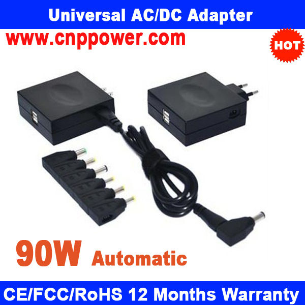 New Product 90W Universal Laptop Adapter Automatic AC Adapter 90W 2 USB Port High Quality