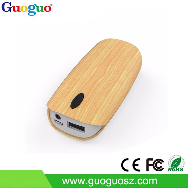New Cheap OEM 5200mah wooden power bank ,mobile power supply,portable battery charge