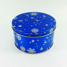 Custom Round Metal Gift Box Christmas Gift Tin Packing Boxes