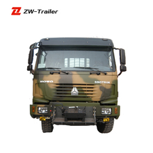AWD military truck with good looking cab for army transport 6x6