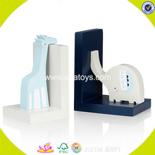 wholesale kids wooden animal bookend creative children's wooden animal bookend W08D059