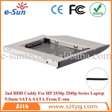 Genuine 2540p 2nd HDD Enclosure SATA Tray For HP EliteBook 2530p Hard Drive Caddy