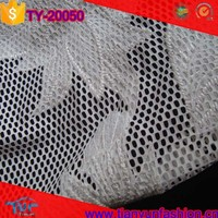 micro polyester mesh knitting embroideried heavy applique lace fabrics