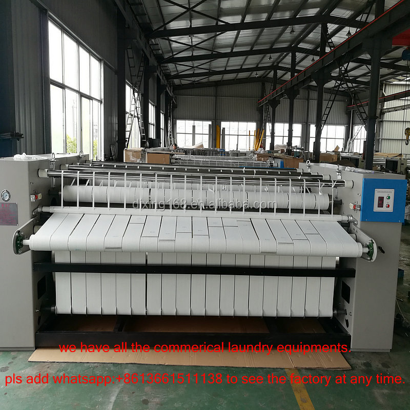Cheap Price 2500mm 2800mm 3000mm double-roller flatwork ironer machine for cotton bedsheet table cloth fabric window cl