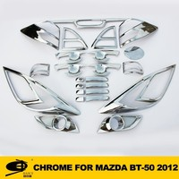 Complete Full Set of Exterior Chrome accessories with 3M Tape fits MAZDA BT50 2012 chrome car accessories