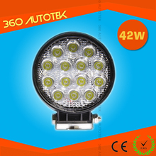 "5"" LED 42W LED Work Light round 12/24V car led light tracktor Truck Jeep ATV 4WD Boat Mining LED work light"