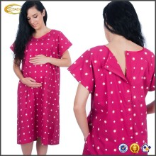 Ecoach Wholesale OEM Custom Designer Hospital Maternity Delivery Robe Birthing Labor Gown Nursing Mother Photoprop