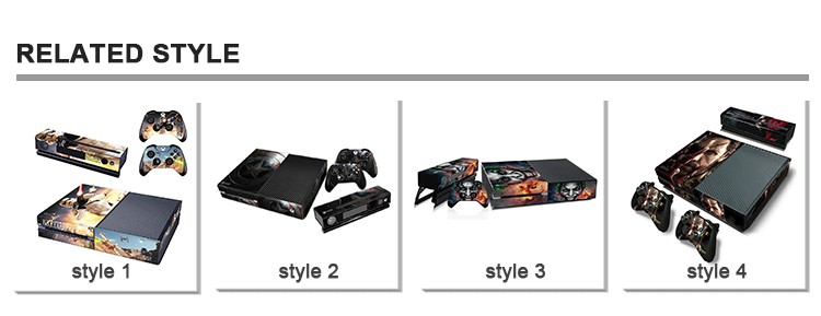 Full color printing decoration skins for xbox one console vinyl decal