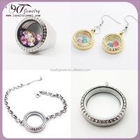 Wholesale locket jewelry set jewelry glass lockets