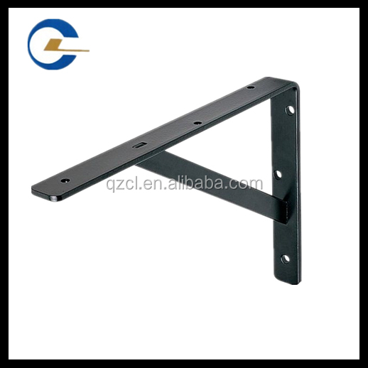 Expanded metal bench bracket for wood